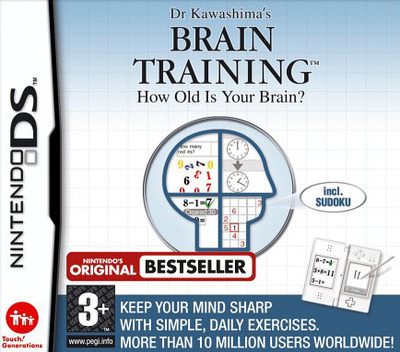 Dr Kawashima's Brain Training - How Old Is Your Brain DS coverMB (ANDP)
