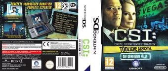 CSI - Crime Scene Investigation - Tödliche Absichten - Die Geheimen Fälle DS cover (BCIP)