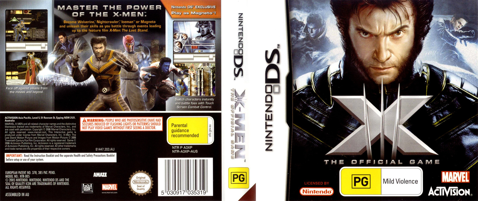 X-Men - The Official Game DS coverfullHQ (A3XP)