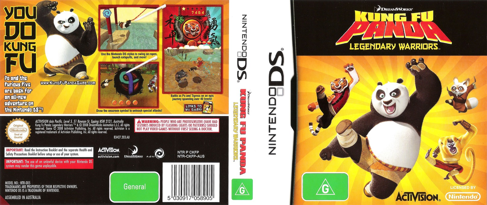 Kung Fu Panda - Legendary Warriors DS coverfullHQ (CKFP)