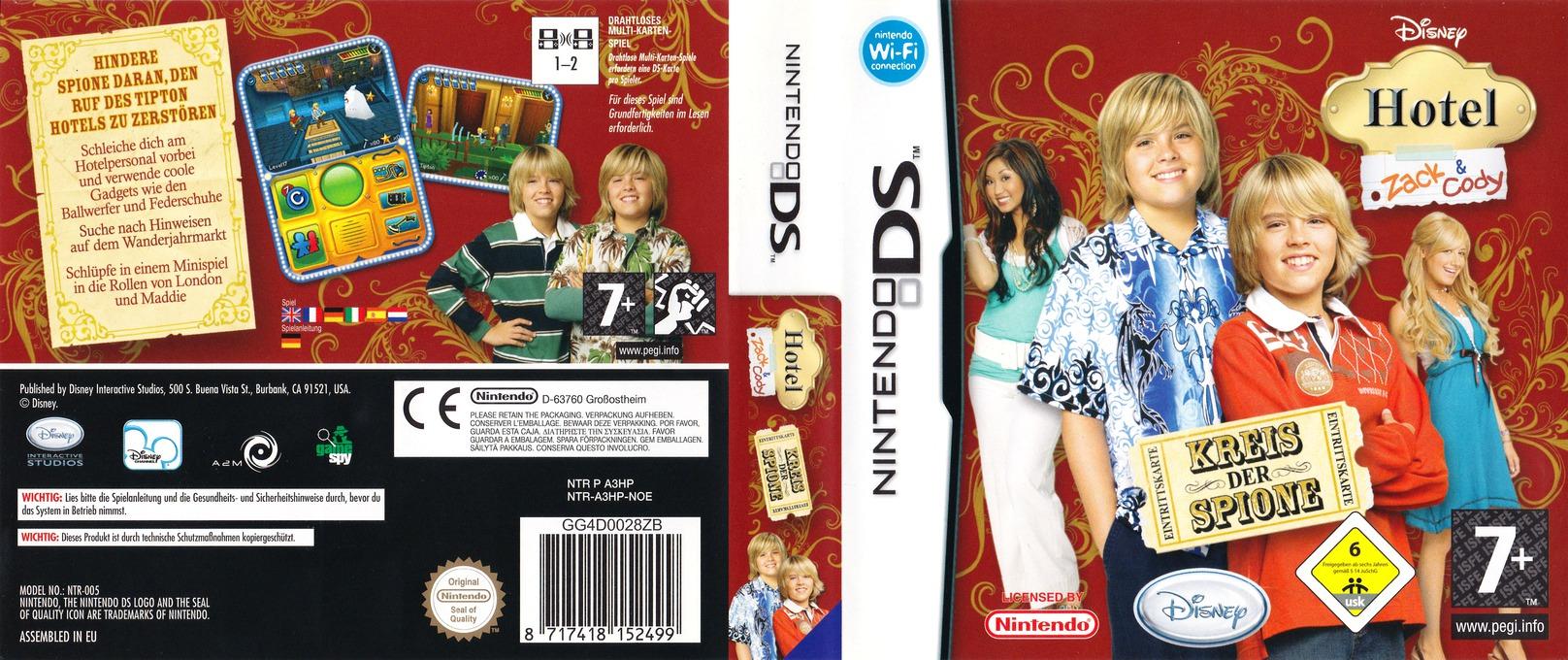Hotel Zack & Cody - Kreis der Spione DS coverfullHQ (A3HP)