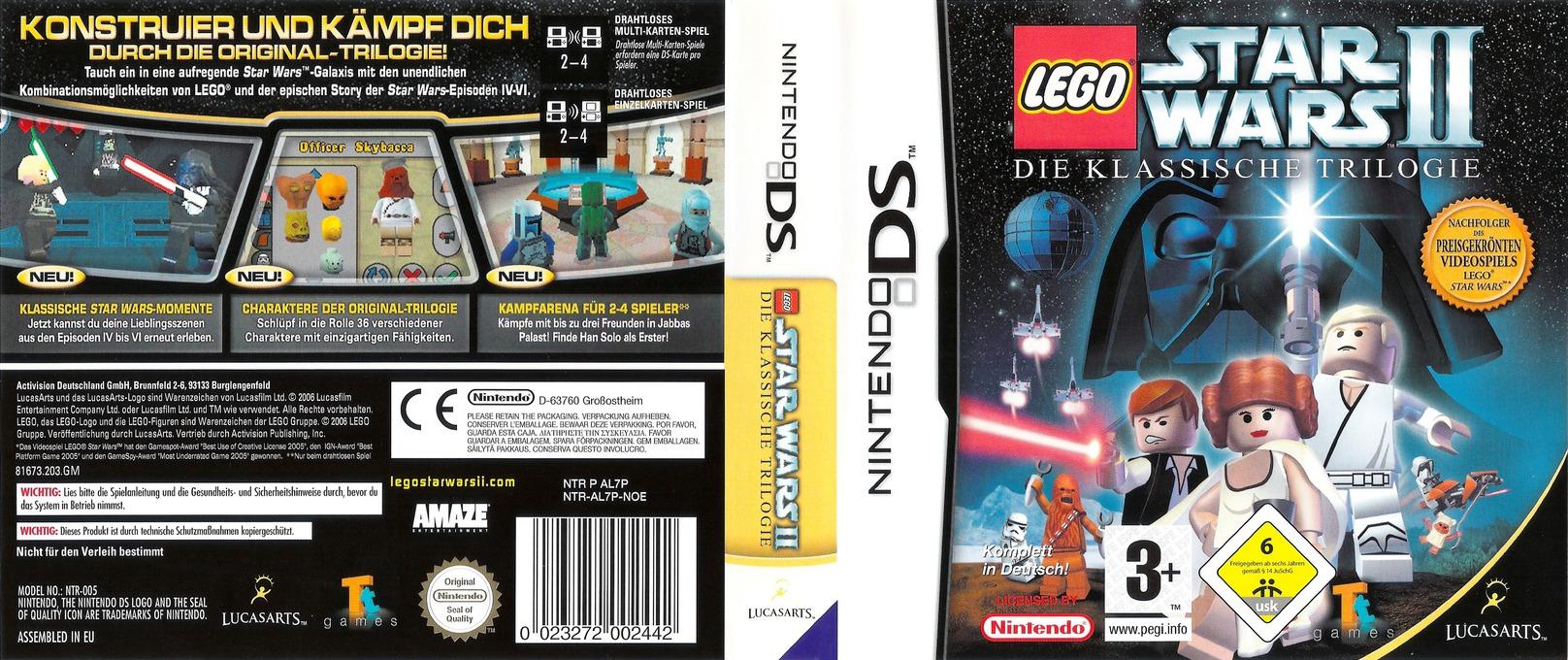 LEGO Star Wars II - Die klassische Trilogie DS coverfullHQ (AL7P)