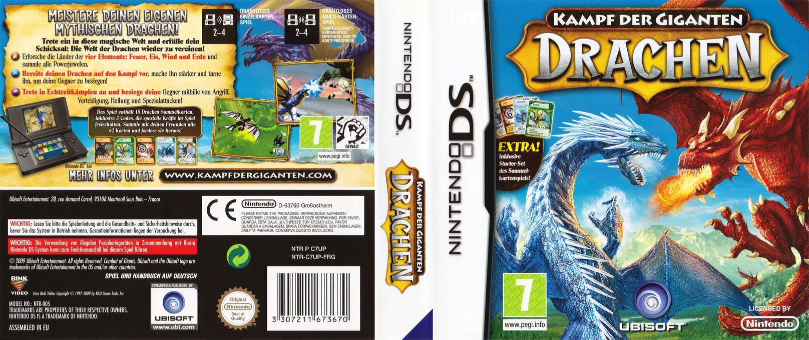 Kampf der Giganten - Drachen DS coverfullHQ (C7UP)