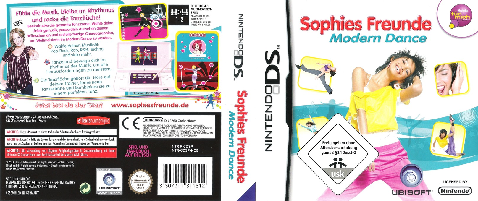 Sophies Freunde - Modern Dance DS coverfullHQ (CDSP)