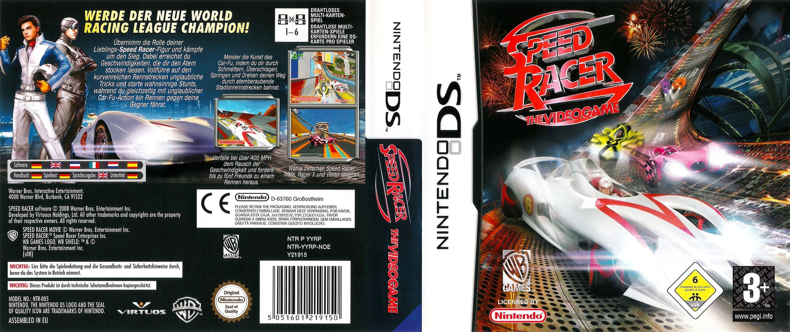 Speed Racer - The Videogame DS coverfullHQ (YYRP)