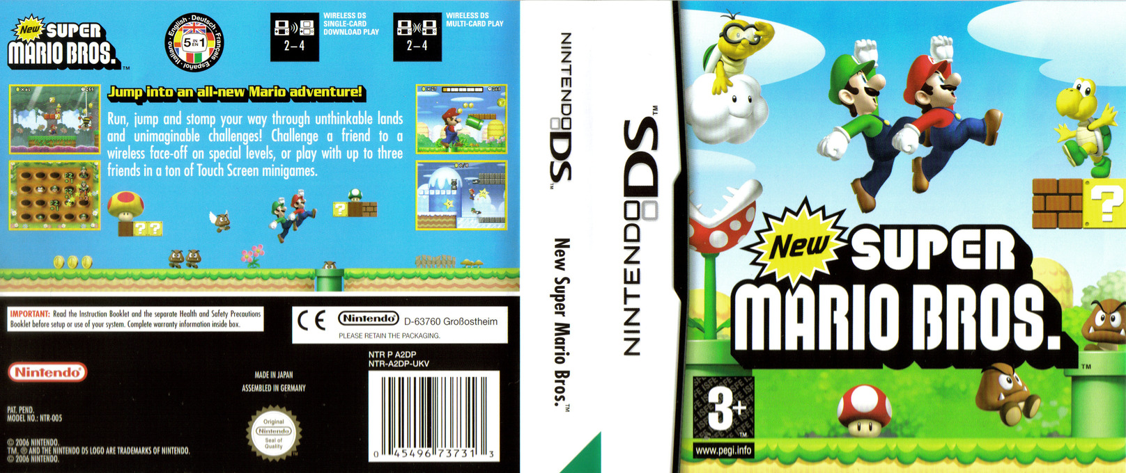 New Super Mario Bros. (Demo) DS coverfullHQ (A85P)
