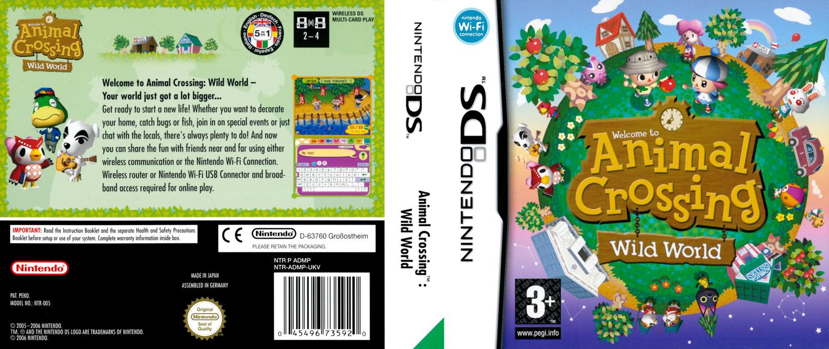 Animal Crossing - Wild World DS coverfullHQ (ADMP)