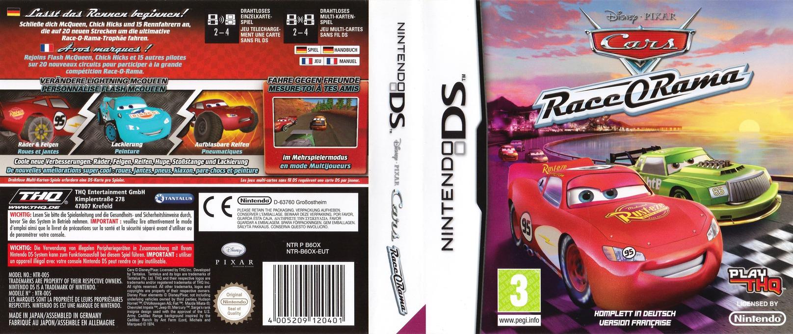 Cars - Race-O-Rama DS coverfullHQ (B6OX)