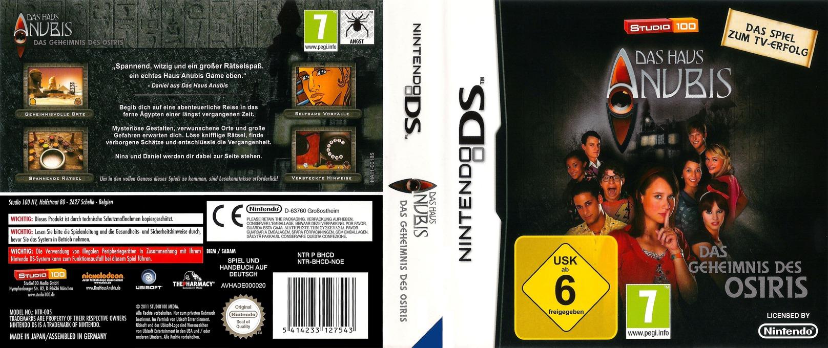 Das Haus Anubis - Das Geheimnis des Osiris DS coverfullHQ (BHCD)