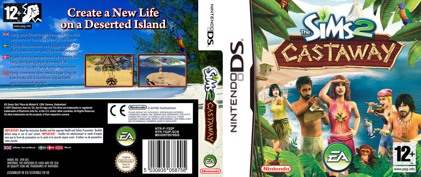 The Sims 2 - Castaway DS coverfullHQ (YS2P)