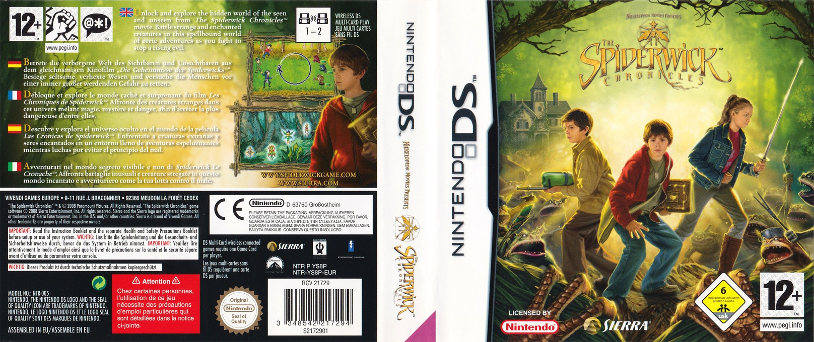 The Spiderwick Chronicles DS coverfullHQ (YS8P)