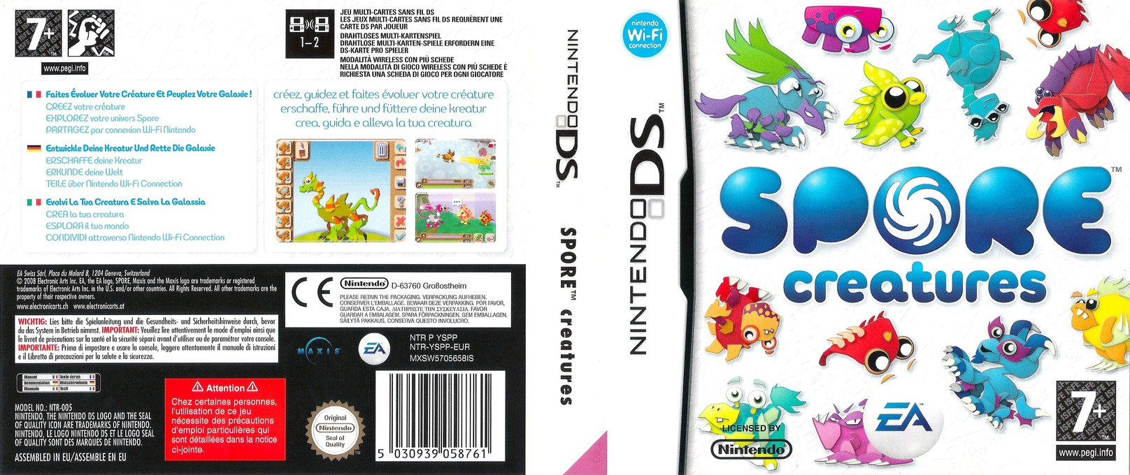 Spore - Creatures DS coverfullHQ (YSPP)
