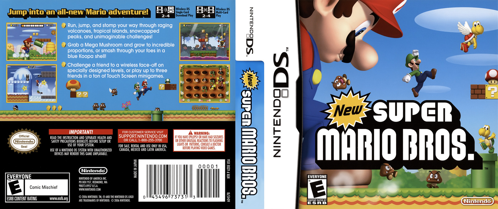 New Super Mario Bros. DS coverfullHQ (A2DE)
