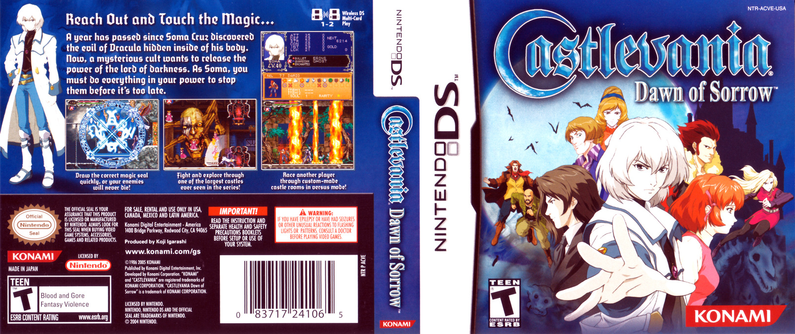 Castlevania - Dawn of Sorrow DS coverfullHQ (A59E)