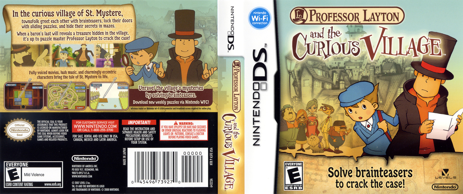 Professor Layton and the Curious Village DS coverfullHQ (A5FE)