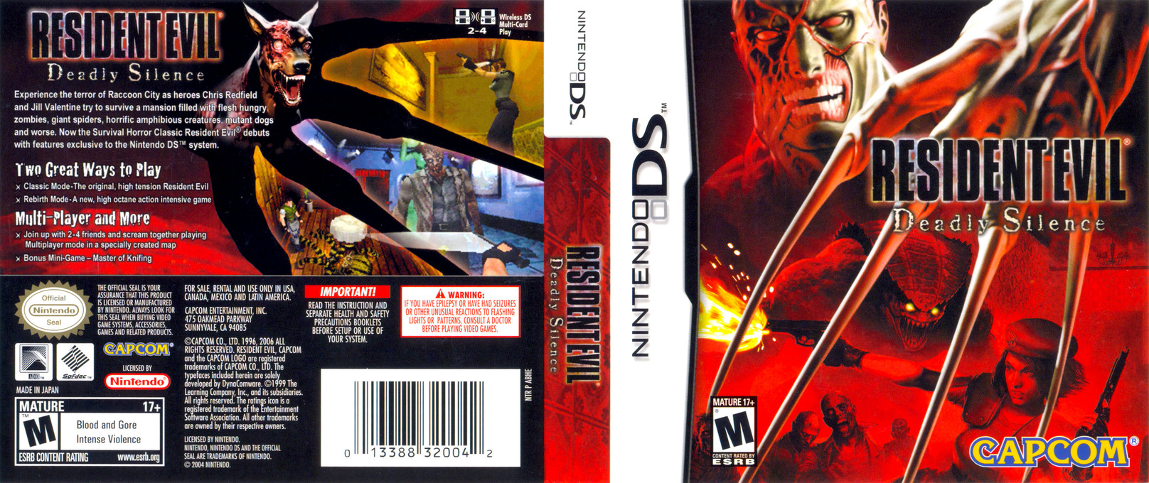 Resident Evil - Deadly Silence DS coverfullHQ (ABHE)
