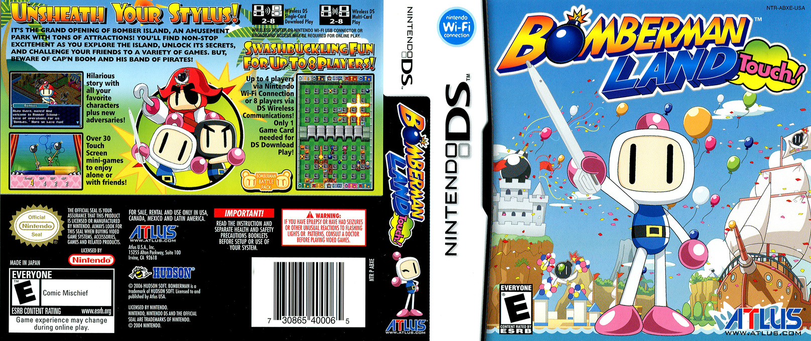 Bomberman Land Touch! DS coverfullHQ (ABXE)