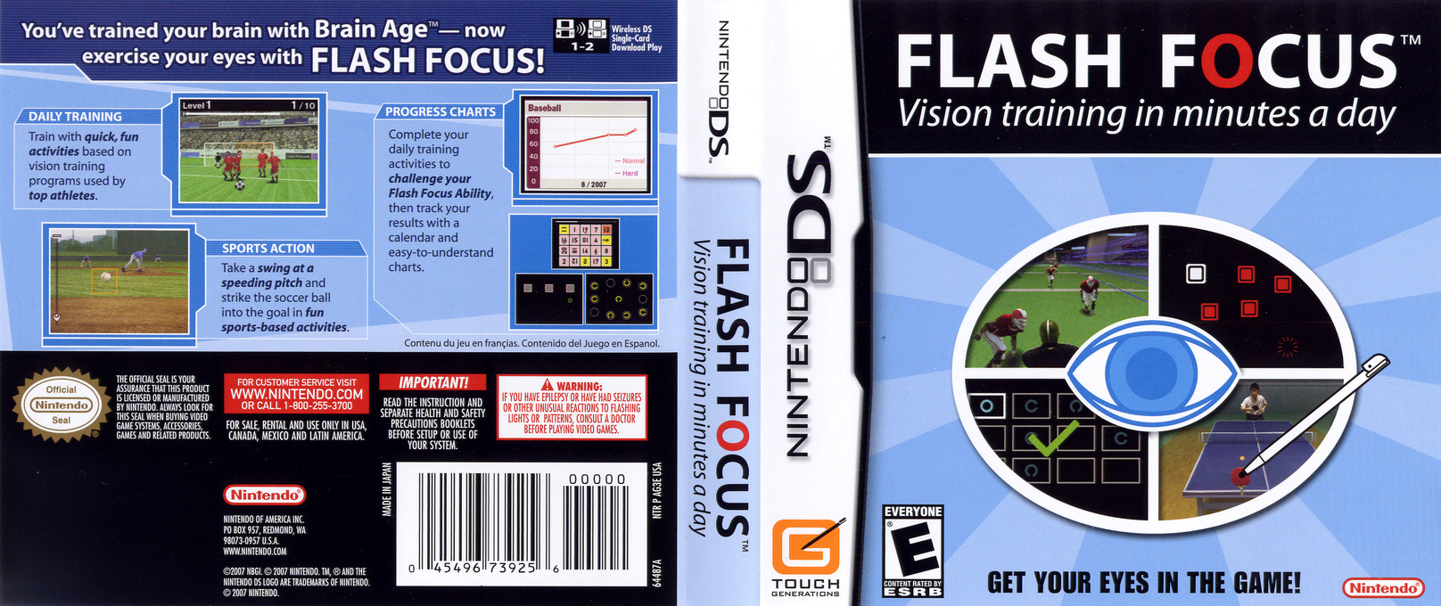 Flash Focus - Vision Training in Minutes a Day DS coverfullHQ (AG3E)