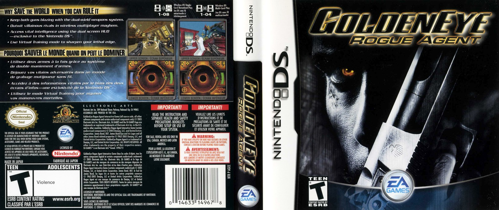 GoldenEye - Rogue Agent DS coverfullHQ (AGEE)