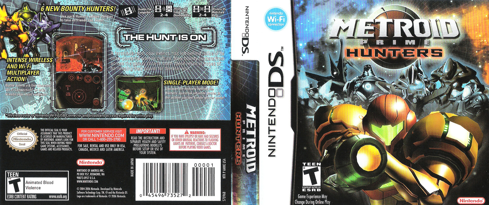 Metroid Prime - Hunters DS coverfullHQ (AMHE)