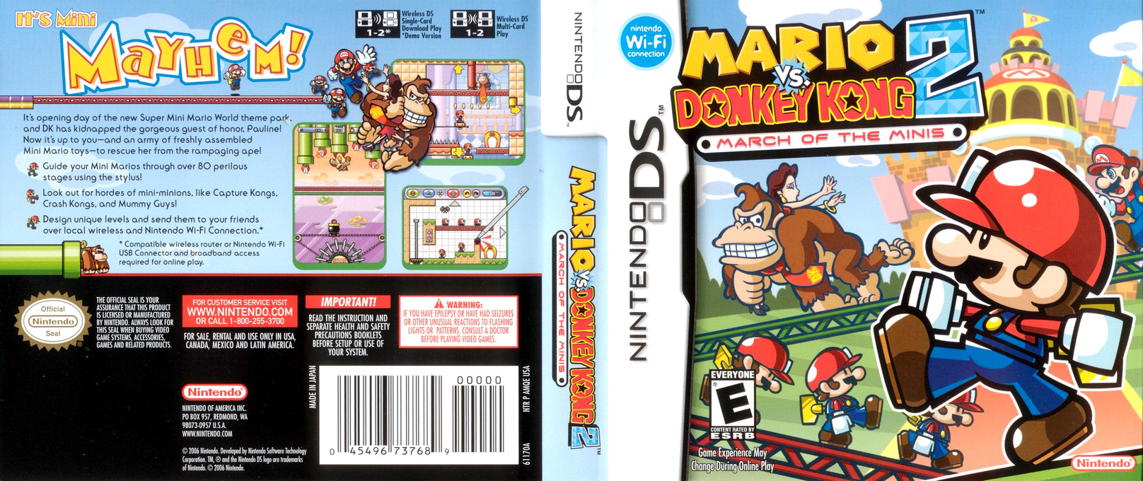Mario vs. Donkey Kong 2 - March of the Minis DS coverfullHQ (AMQE)