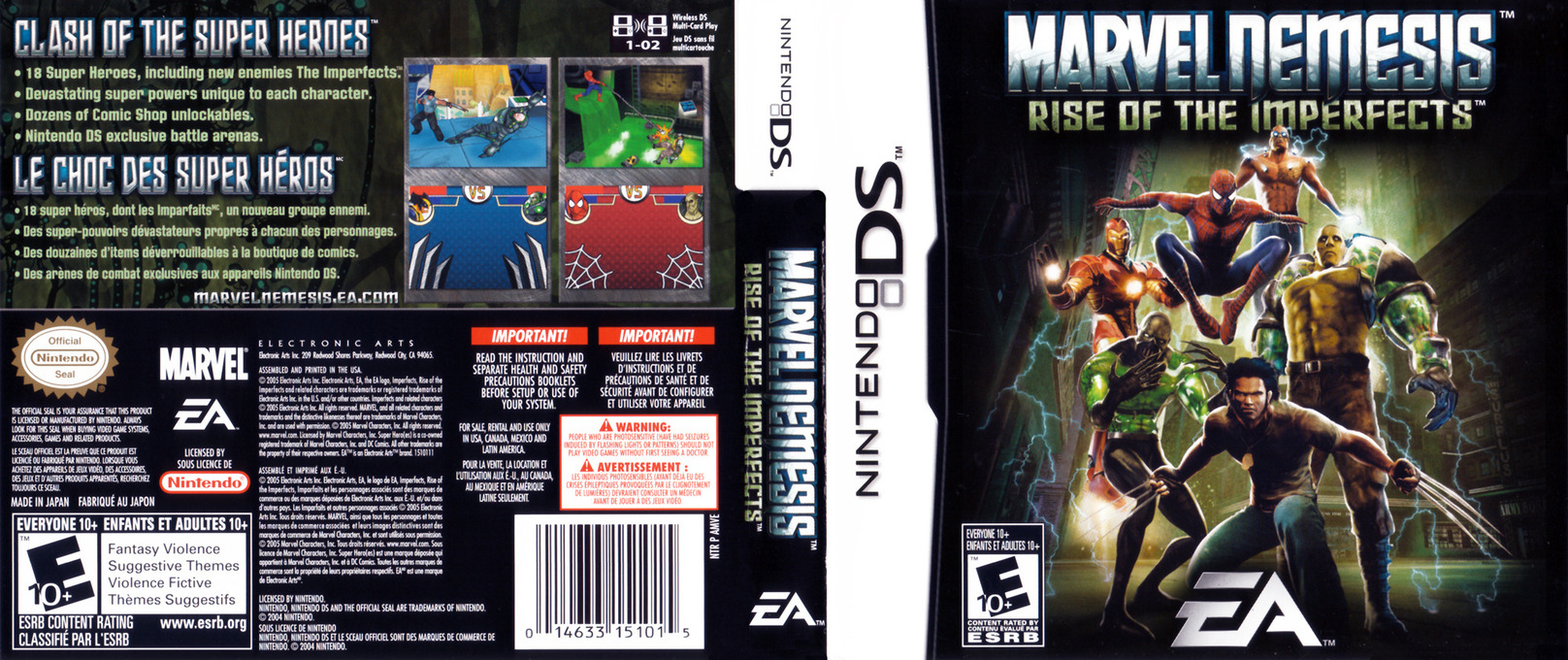 Marvel Nemesis - Rise of the Imperfects DS coverfullHQ (AMVE)