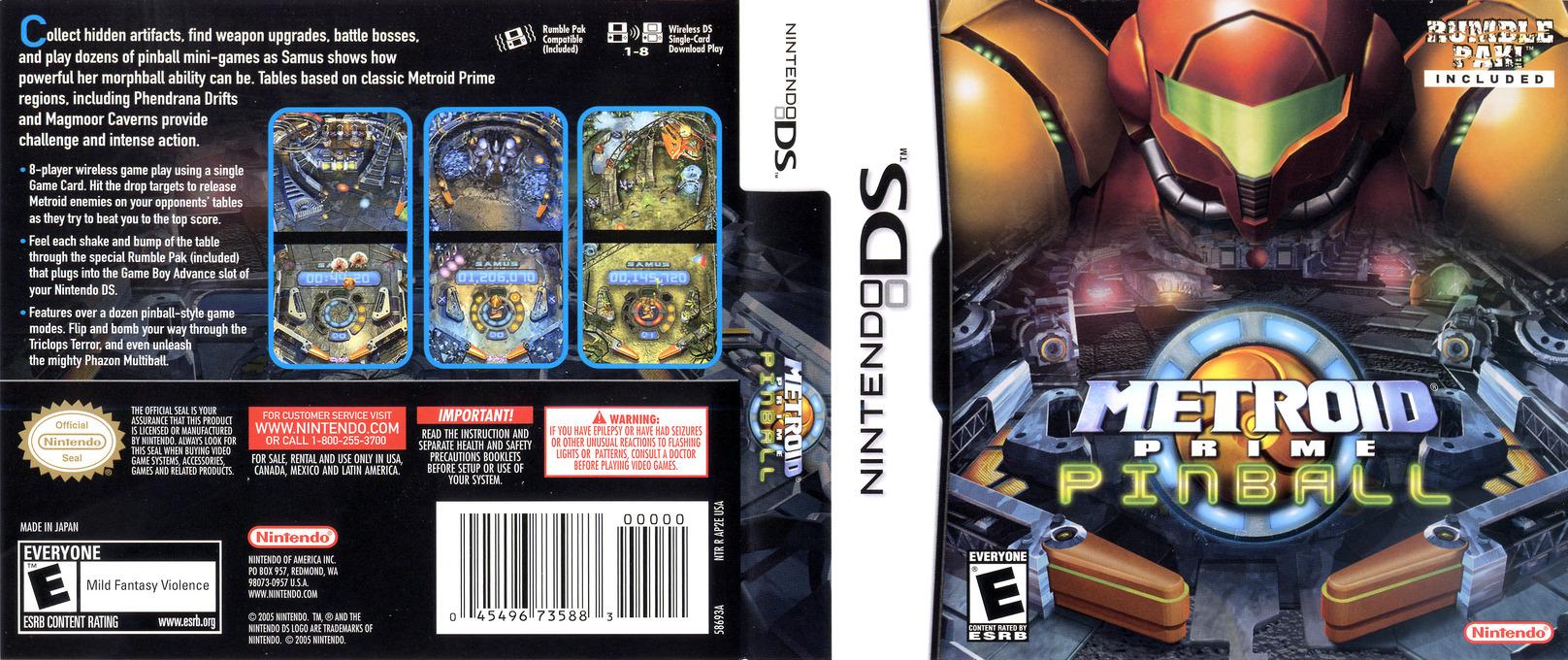 Metroid Prime Pinball DS coverfullHQ (AP2E)