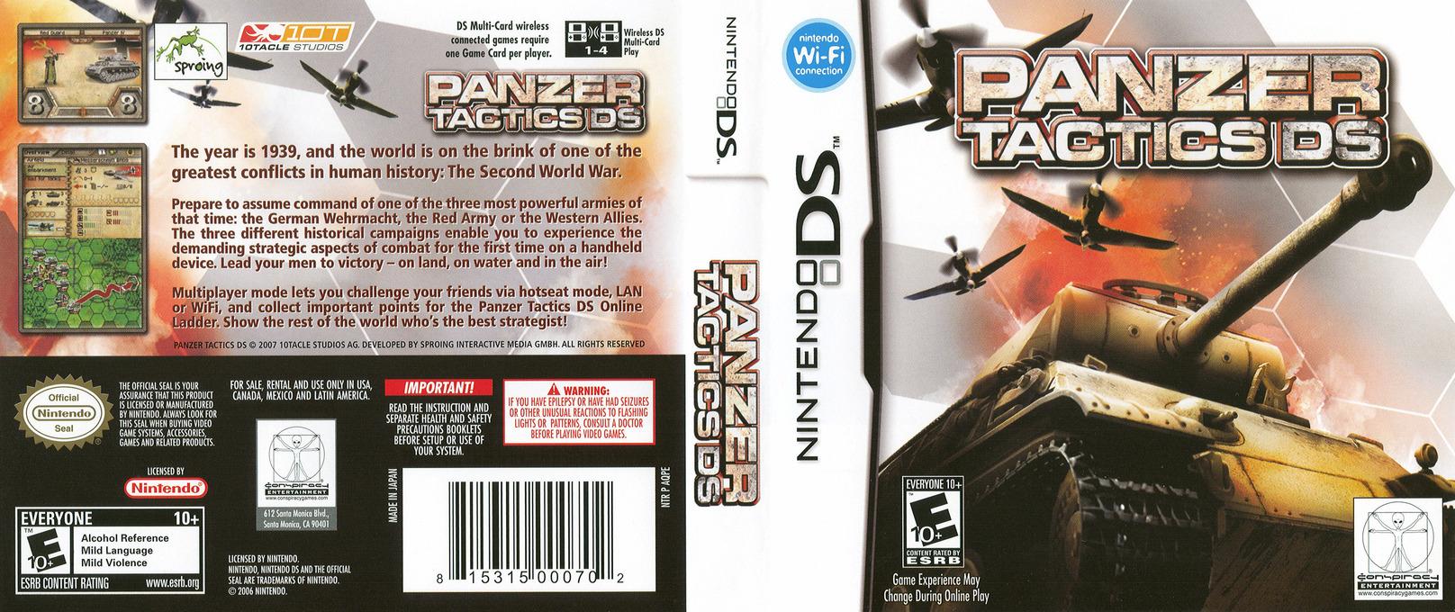 Panzer Tactics DS DS coverfullHQ (AQPE)