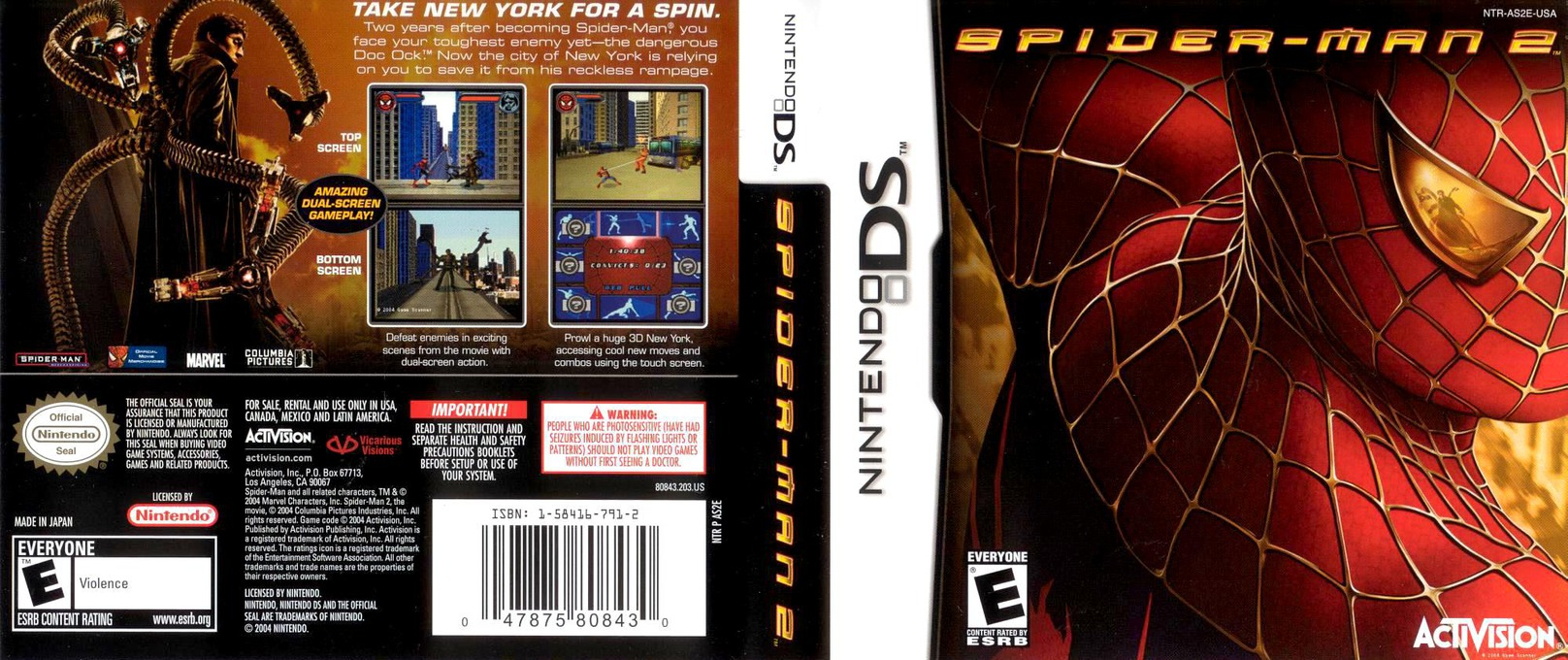 Spider-Man 2 DS coverfullHQ (AS2E)