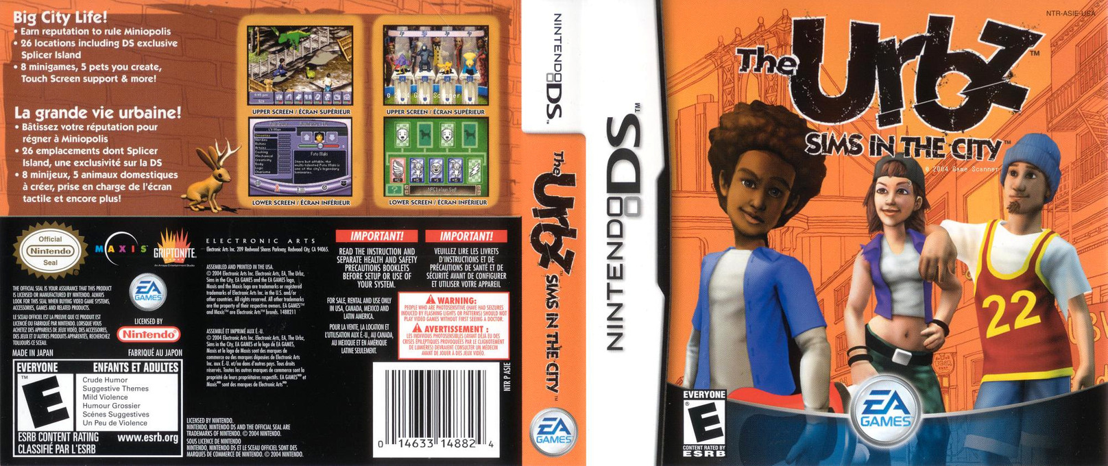 The Urbz - Sims in the City DS coverfullHQ (ASIE)