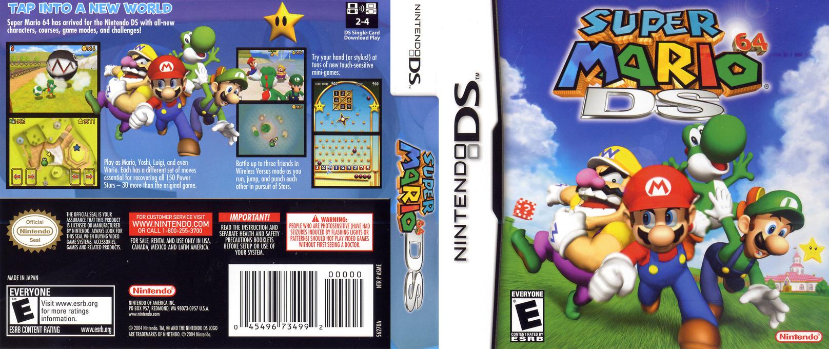 Super Mario 64 DS DS coverfullHQ (ASME)