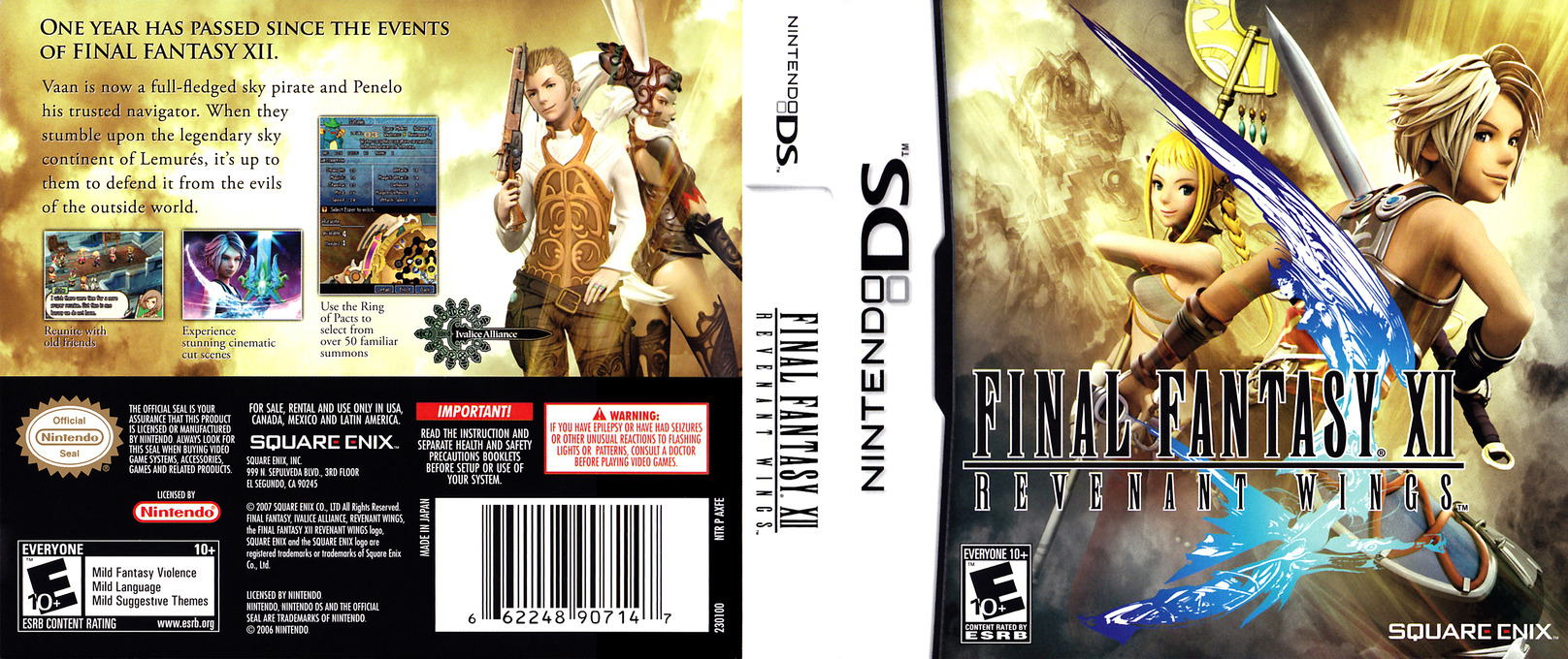 Final Fantasy XII - Revenant Wings DS coverfullHQ (AXFE)