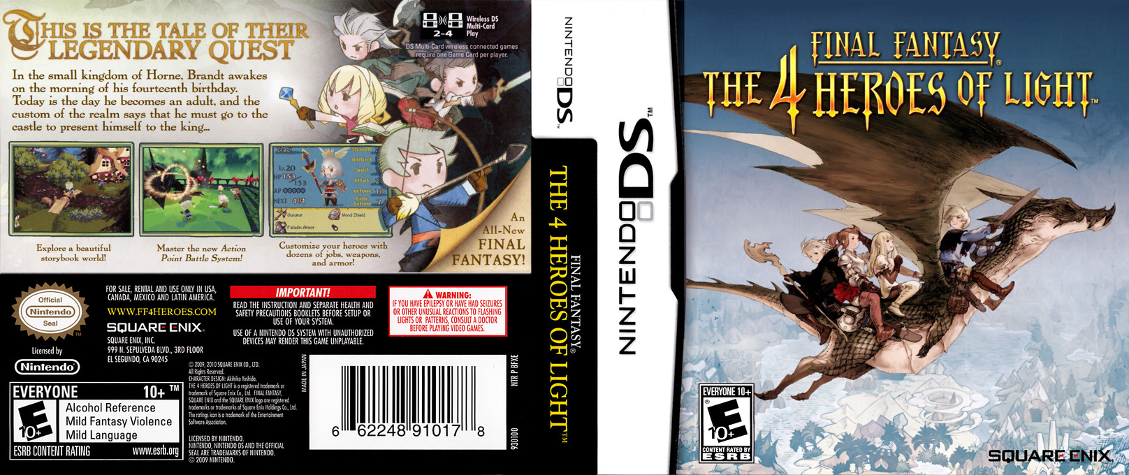 Final Fantasy - The 4 Heroes of Light DS coverfullHQ (BFXE)