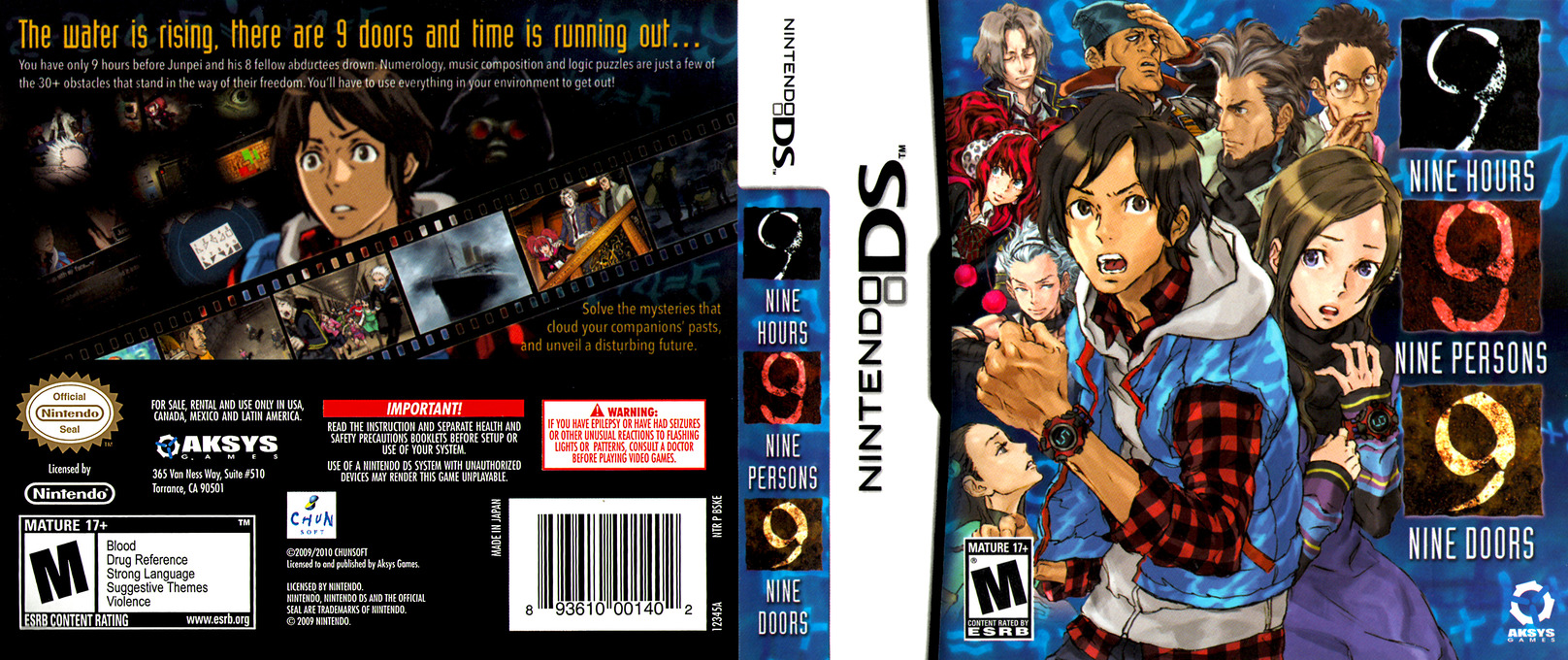 Nine Hours, Nine Persons, Nine Doors DS coverfullHQ (BSKE)