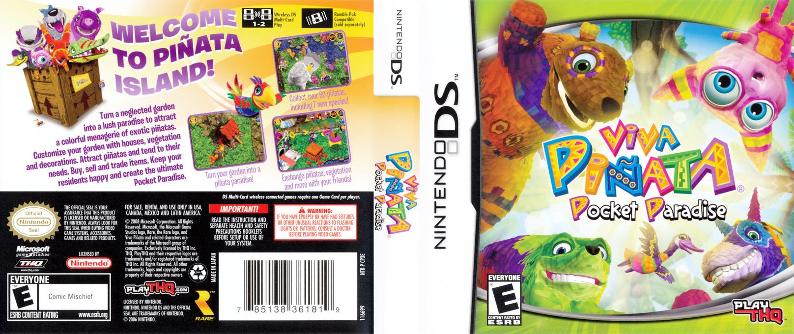 Viva Pinata - Pocket Paradise DS coverfullHQ (CP3E)