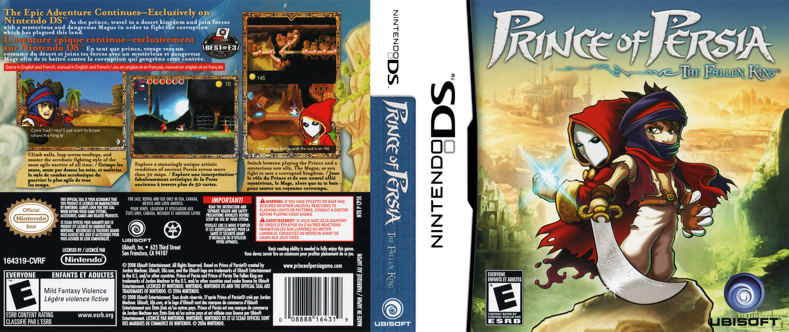 Prince of Persia - The Fallen King DS coverfullHQ (CP5E)