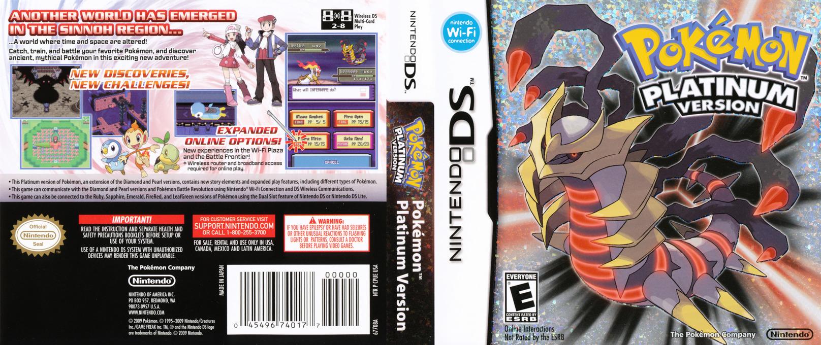 Pokémon - Platinum Version DS coverfullHQ (CPUE)