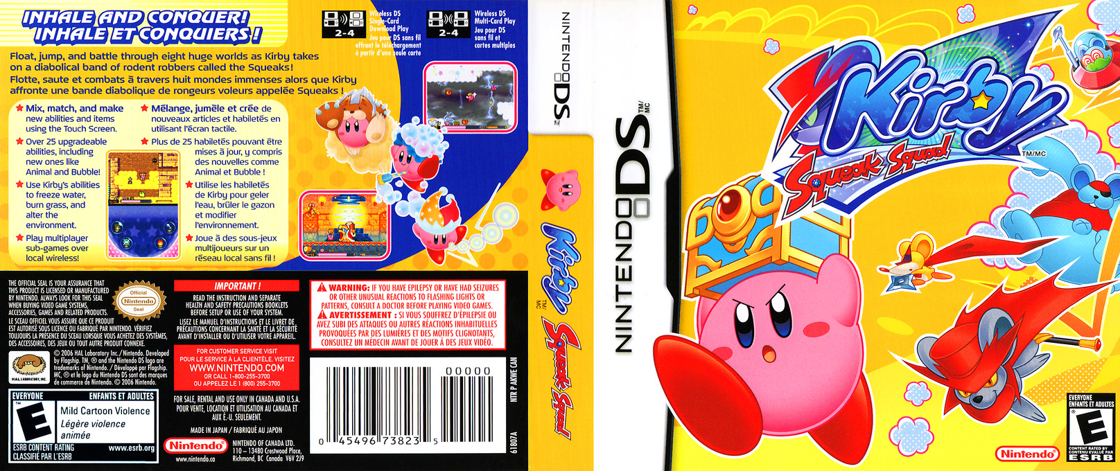 Kirby - Squeak Squad (Demo) DS coverfullHQ (Y2ME)