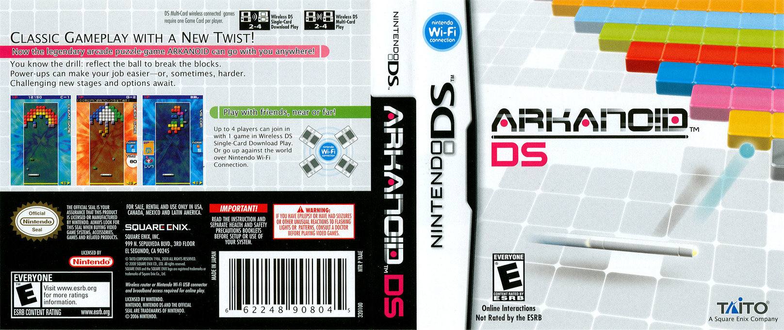 Arkanoid DS DS coverfullHQ (YAAE)