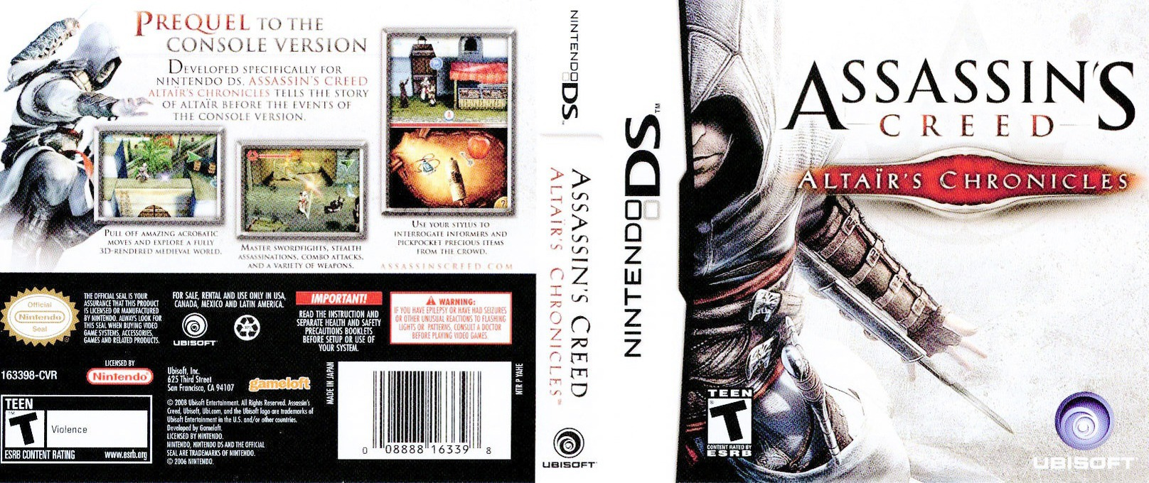 Assassin's Creed - Altaïr's Chronicles DS coverfullHQ (YAHE)