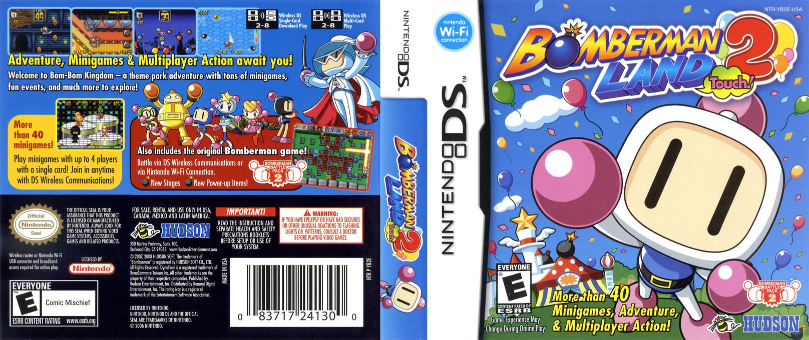 Bomberman Land Touch! 2 DS coverfullHQ (YB2E)