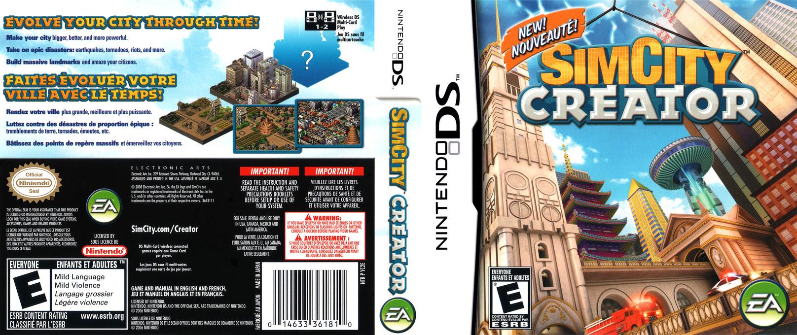 SimCity - Creator DS coverfullHQ (YC2E)