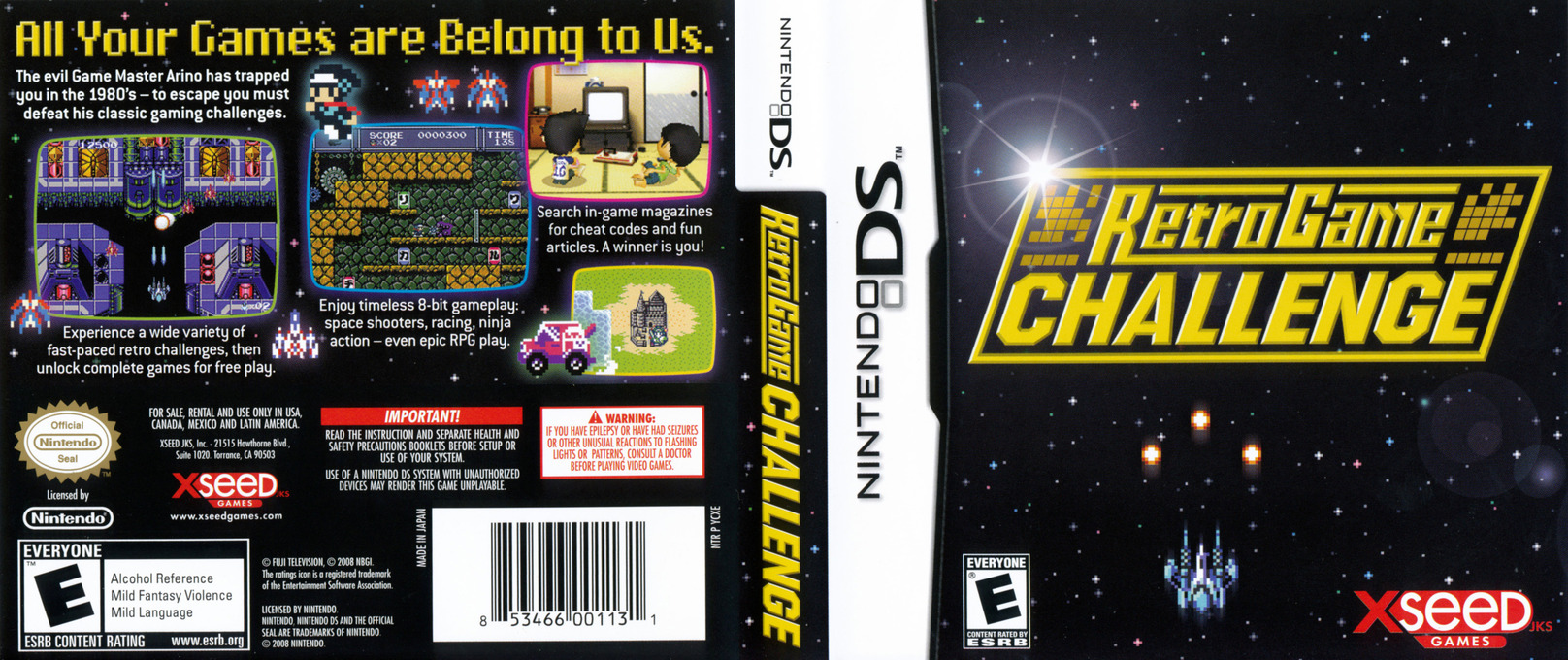 Retro Game Challenge DS coverfullHQ (YCXE)