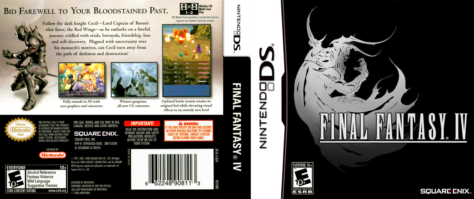 Final Fantasy IV DS coverfullHQ (YF4E)