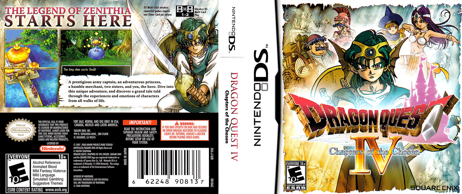 Dragon Quest IV - Chapters of the Chosen DS coverfullHQ (YIVE)