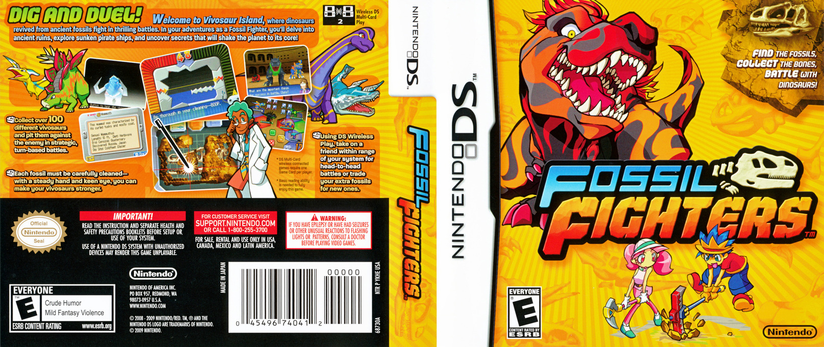 Fossil Fighters DS coverfullHQ (YKHE)
