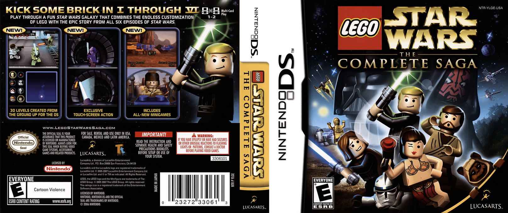 LEGO Star Wars - The Complete Saga DS coverfullHQ (YLGE)