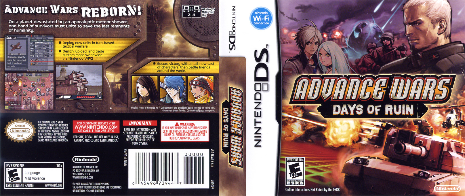 Advance Wars - Days of Ruin DS coverfullHQ (YW2E)