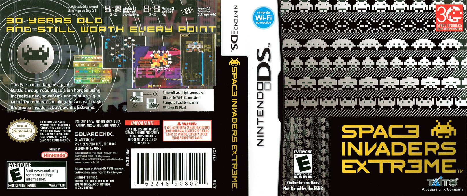 Space Invaders Extreme DS coverfullHQ (YXXE)