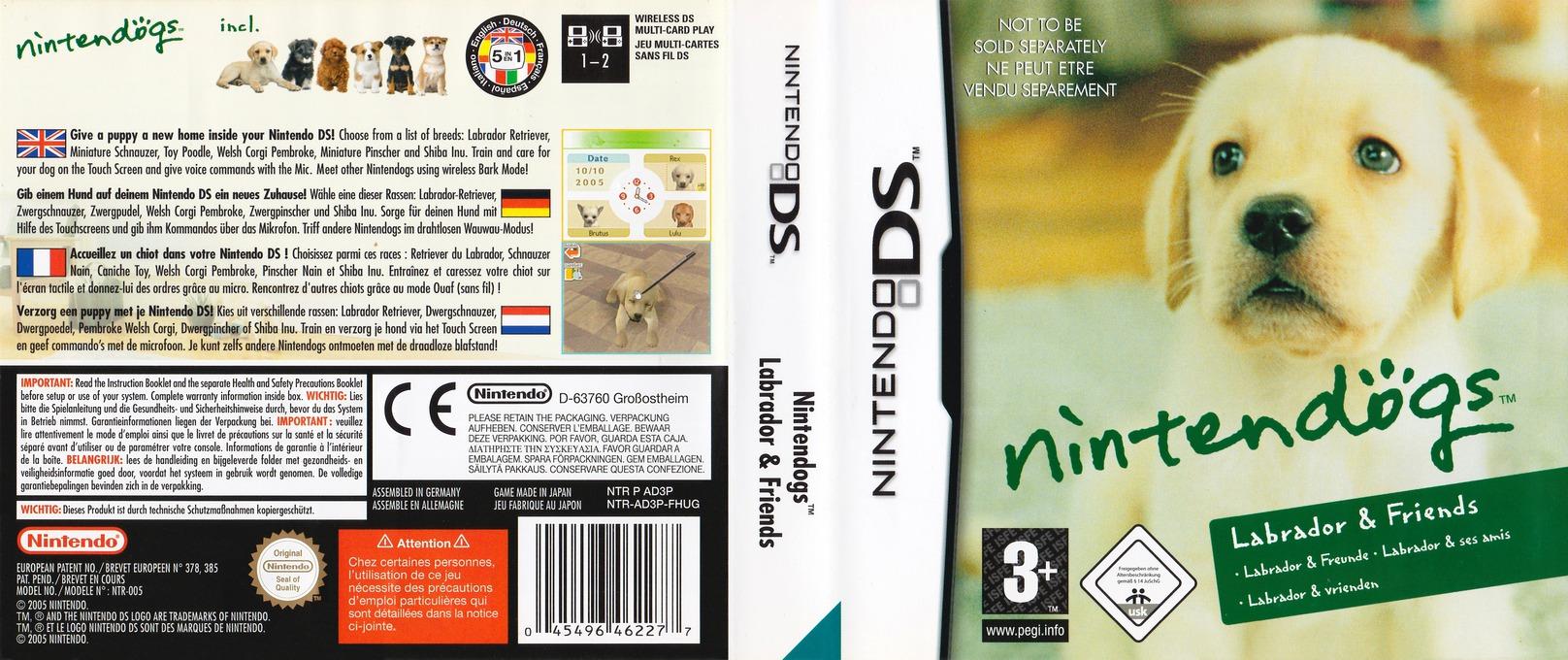Nintendogs - Labrador & Friends DS coverfullHQB (AD3P)